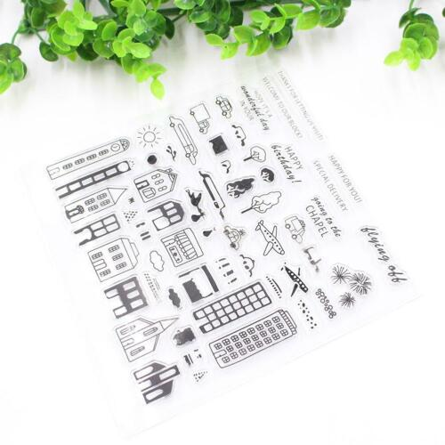 House Silicone Scrapbook Photolbum Card Transparent Seal Stamp  Craft HOT