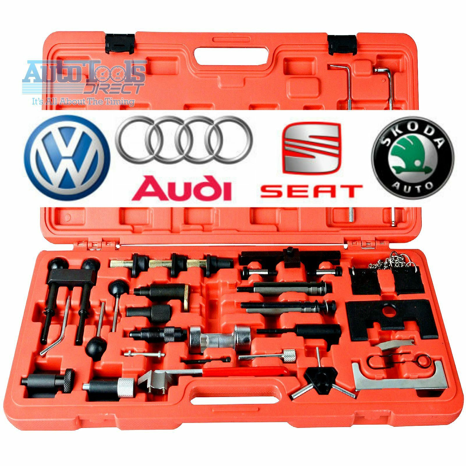 Vw 1600 Engine Removal: New Engine Timing Cam Belt Chain Tool Kit VAG Master Skoda