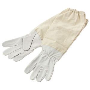 Pair-Xxl-Goatskin-Protective-Beekeeping-Gloves-Bee-Keeping-amp-Vented-Long-Sleev