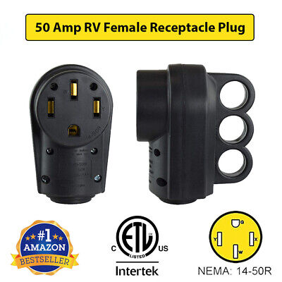 ETL Certified 50AMP RV Replacement Female Plug With Easy Unplug Design