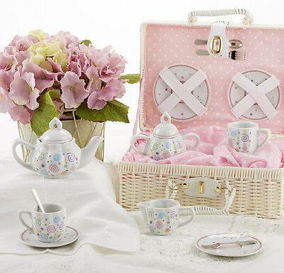 Children's Porcelain Tea Set for 2-Swirls-#8115-1