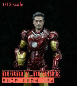 1-12-Head-Sculpt-Iron-Man-Tony-Stark-For-6-034-Figure-SHF-Marvel-TBLeague-USA