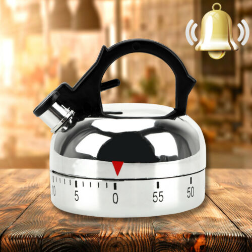 Kettle Shaped Timer Kettle Mechanical Timer 60 Minute Countdown Alarm