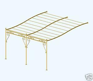 magnifique pergola fer forge en kit 4 m x 3 m ebay. Black Bedroom Furniture Sets. Home Design Ideas