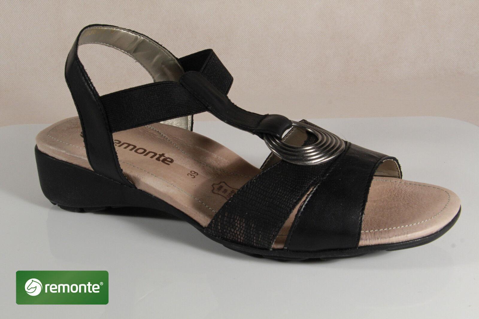 Los zapatos más populares para hombres y mujeres Descuento por tiempo limitado Remonte Sandalia Sandalias r5273 Negro plantilla piel NUEVO