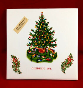 Merry Christmas In Norwegian.Details About Vtg Bronners 6 Norwegian Gledelig Jul Merry Christmas Tree Ceramic Tile W Tags