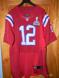 Details about New England Patriots Red SUPER BOWL TOM BRADY Football Jersey, Size: 56
