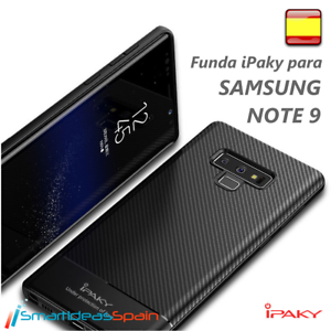 Cover-Samsung-Note-9-ipaky-TPU-Carbon-Fiber-Gel-Rubber-Galaxy-Case-Screen