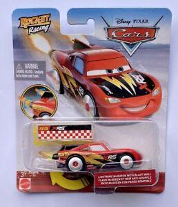 Disney Pixar Cars XRS ROCKET RACING LIGHTNING McQUEEN With Blast Wall Rare !!