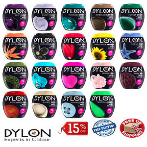 Dylon-Machine-Dye-19-Colours-Fabric-Clothes-Wash-Pods-Salt-Fresh-Colours-NEW