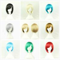 Ladies Bob Short Straight Wigs Women Anime Cosplay Fancy Dress Full Wig Fashion
