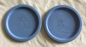 Tupperware-2423-A-Blue-Canister-Replacement-Lids-Lot-of-2-2