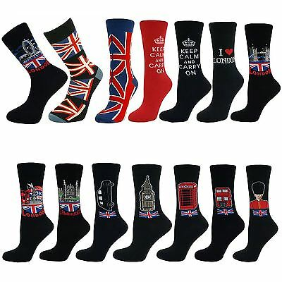 Womens Ladies Girls Souvenir Mid Calf Ankle Crew Short Cotton Socks New Lot
