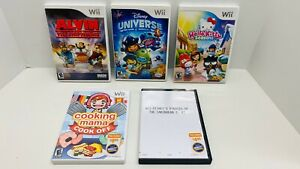 5-WII-Game-Lot-Disney-Universe-Hello-Kitty-Cooking-Mama-amp-Pirates-Alvin-amp