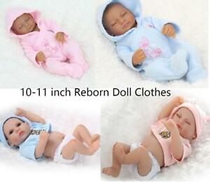 10 11 Mini Reborn Baby Clothes Outfit Baby Girl Boy 26 28cm Doll Clothing 2020 Ebay