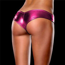Women Ladies Metallic Lingerie Underwear Panties Knickers G-String Micro Thong