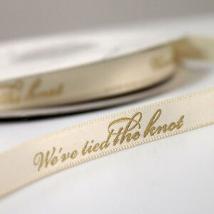 "We Tied The Knot 5/8"" Wedding Favor Ribbon, 2 Sizes, 26 Colors!"