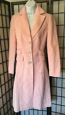 Pretty Trench Coat In Pink Women's Size 4 Relieving Heat And Sunstroke