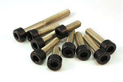 M5x40 Edelstahl A2 V2A schwarz matt INOX DIN 912 Zylinderkopf Schraube M5x12