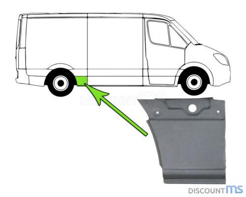 Radlauf atrás 400x390 mm derecha para VW Crafter 30-50 camastro 2f 06-16
