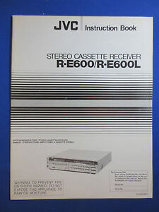 Bedienungsanleitung-instruction Book Für Jvc L-e600 Tv, Video & Audio