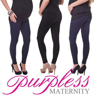New Stretchy Maternity Leggings Over Bump Full Length Size 8 10 12 14 16 18 1050 Neueste Technik