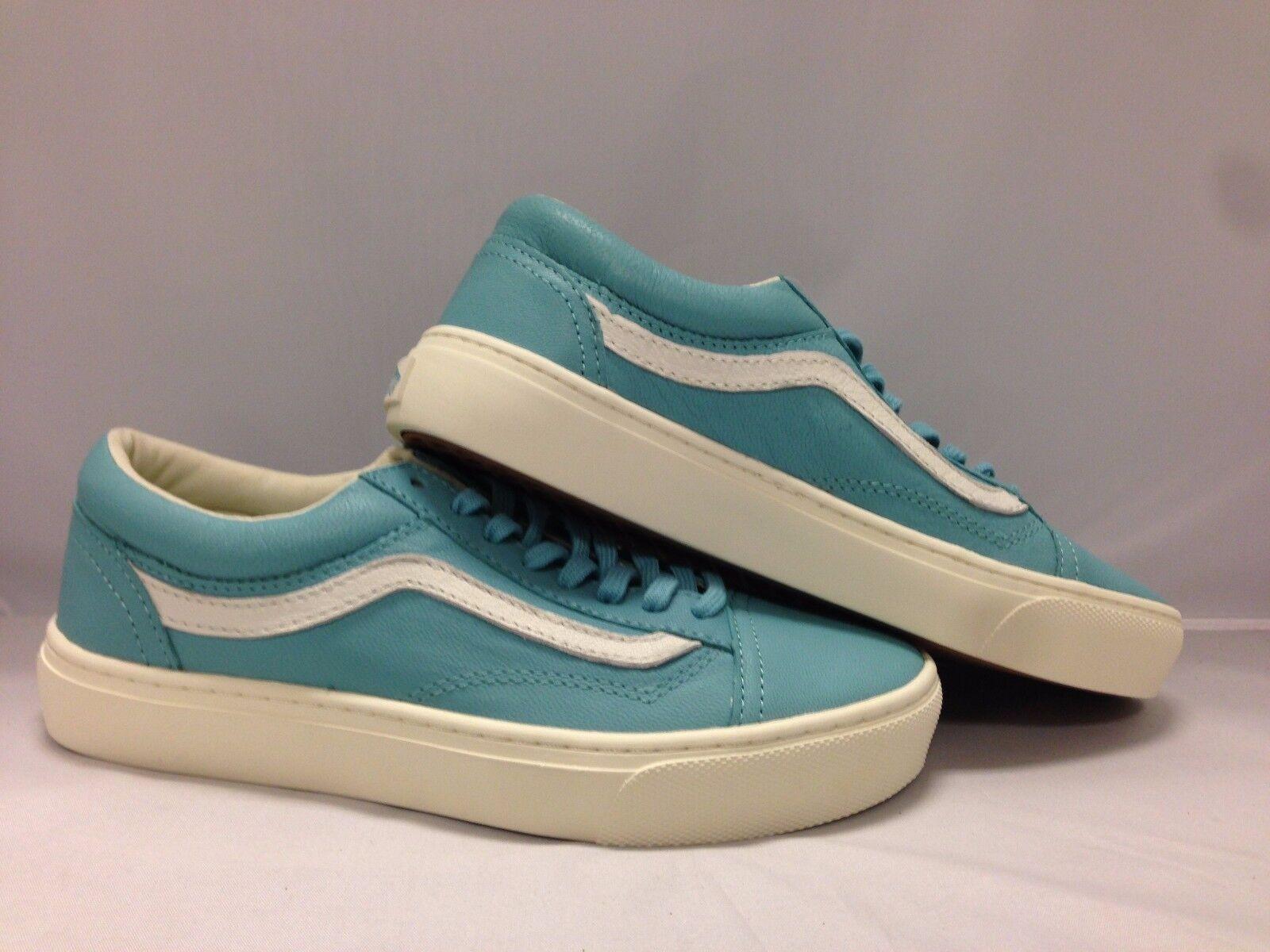 Vans Men's shoes  Old skool''--(Leather)--Aqua Sea