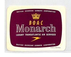 Ce49 Boac Vol étiquette-afficher Le Titre D'origine Un BoîTier En Plastique Est Compartimenté Pour Un Stockage En Toute SéCurité