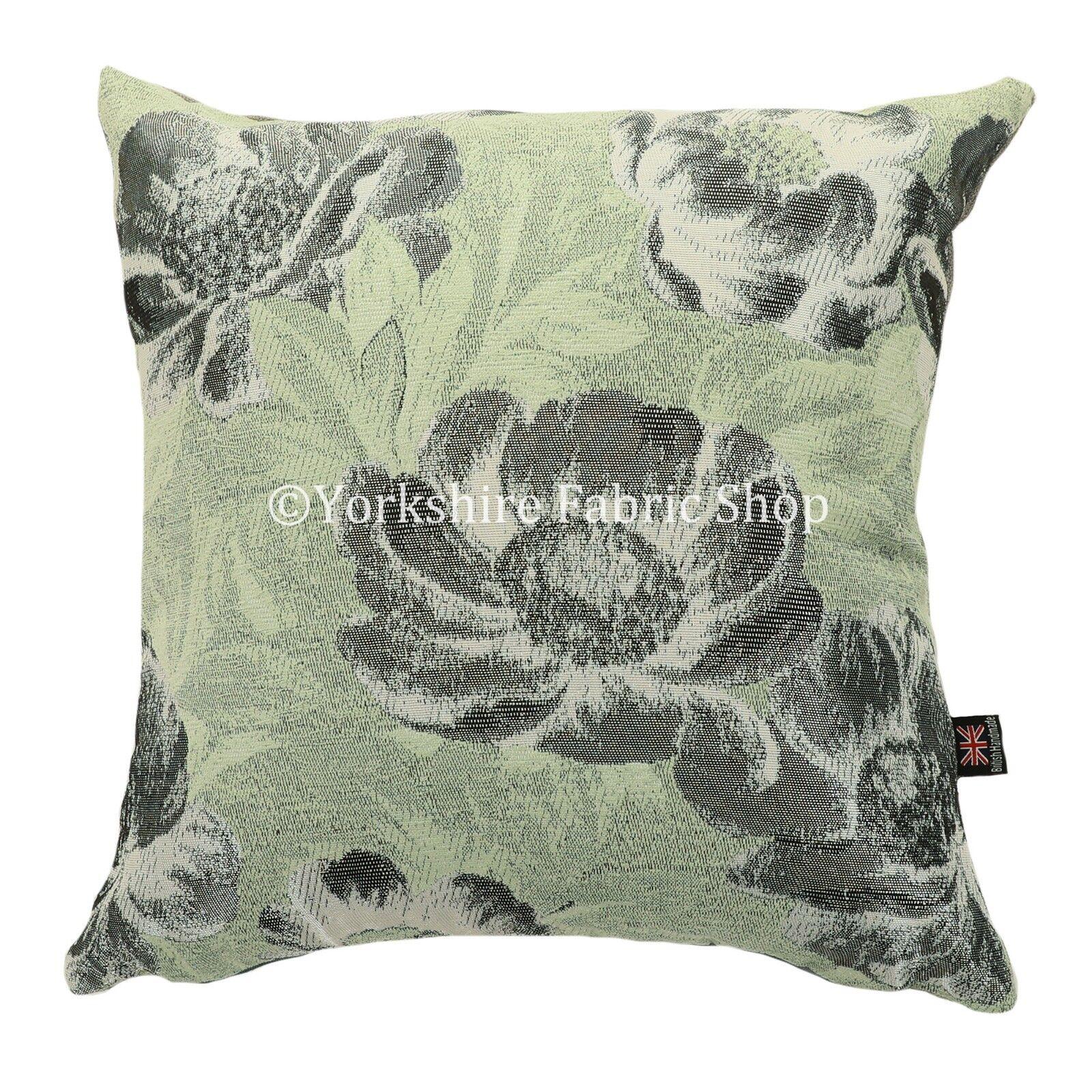 Nouveau Doux Moderne Brillant Fleur Aqua Vert Brillant Moderne TISSE Motif Floral Tissu Coussin f73fa0
