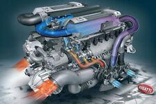 "Bugatti Veyron Engine Supercar  Poster Art Print 24"" x 16"""