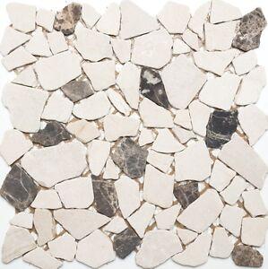 Mosaik Fliese Marmor Naturstein beige Brick Castanao MOS40-0185/_m