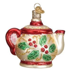 Old-World-Christmas-HOLLY-TEAPOT-32247-N-Glass-Ornament-w-OWC-Box