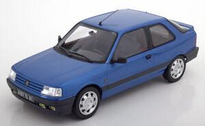 Norev 1991 Peugeot 309 Gti 16 Bleu Métallisé En 1/18 Echelle Nouvelle Version !