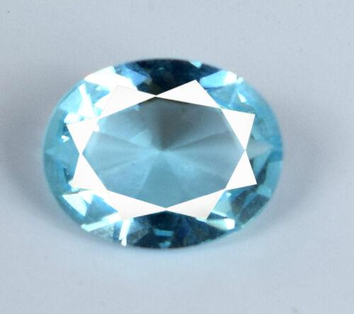100/% Natural Oval Cut 2 Carat Aqua Blue Aquamarine Loose Gemstone AGSL Certified