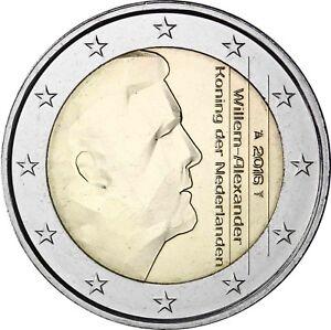 Appris Pays-bas 2 Euro 2016 Roi Willem Alexander Pièce De Monnaie Avec Marque D'atelier-afficher Le Titre D'origine