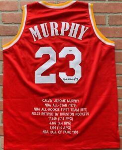 Calvin-Murphy-autographed-signed-jersey-NBA-Houston-Rockets-PSA-COA-Niagra
