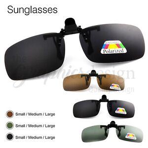 New high quality Polarised Polarized Sunglasses Flip-Up Clip-On   Brown Medium