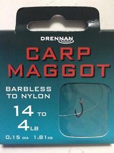 Drennan Red Maggot Hooks to Nylon