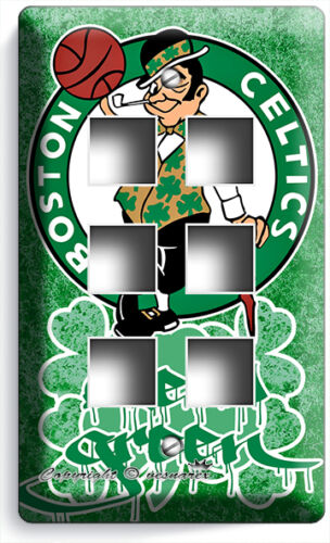 BOSTON CELTICS BLEED GREEN BASKETBALL TEAM LIGHT SWITCH OUTLET WALL PLATE COVER