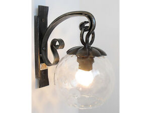 Illuminazione da interno lampada lanterna applique in ferro battuto