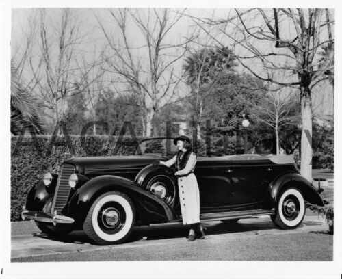 Marion Talley 1936 Lincoln Convertible Sedan Ref. #53259 Factory Photo