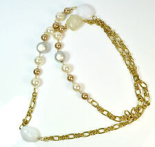 ELEGANT LADIES CHUNKY MULTI LAYER PEARL NECKLACE BRAND NEW (ST46)