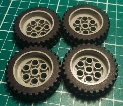 Rueda De Lego 2695 2696 x4 30mm D X 13mm 13 X 24 con Negro Neumático
