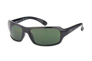 621f4793e4e Polarized Genuine Ray-Ban Highstreet Black Green Sunglasses RB 4075 ...