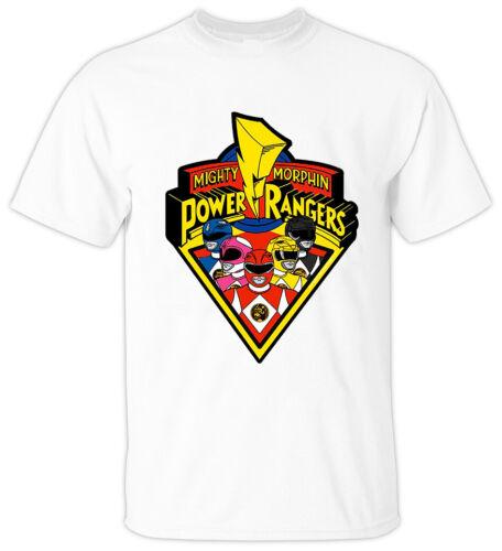 WHITE Mighty Morphin Power Rangers V3 Haim Saban 1993 T Shirt All sizes S-5XL