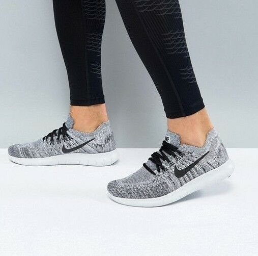 UK 8.5 2018 NIKE FREE RN FLYKNIT 2018 8.5 Hommes Running Gym Trainers OREO EU 43 d2a4a1