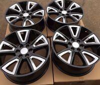Set Four 22 Chrome Black Wheels Rims For Chevy Tahoe Suburban Silverado 1500