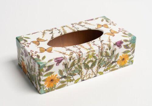 Meadows rectangulaire Boîte tissu housse fabriquée à la main en bois pour maisons et Hôtels