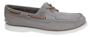 cuero de zapatos U97 Timberland color para hombre barco 2 A17sl con de Eye gris cordones Classic q4wqtOSx7