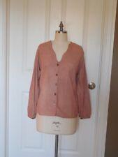 Rose Leather Jacket Top Suede VTG 70s Runway Chic Designer lyn of toronto Sz 42